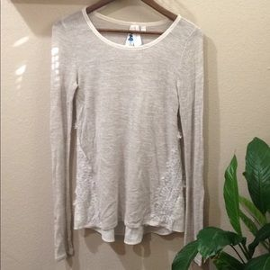 Society Girl Long Sleeve Blouse With Lace Size S